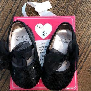 Stuart Weitzman Shoes - Stuart Weizman infant black sequin shoes